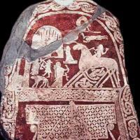 La pierre historiée de Tjängvide, île de Gotland