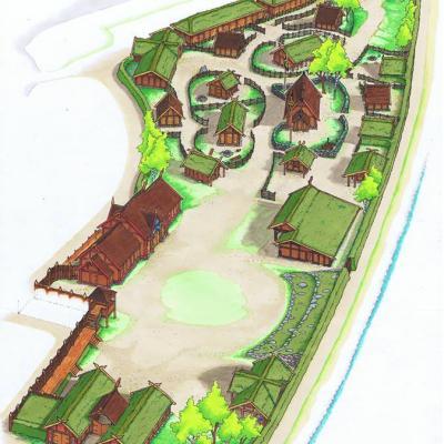 Plan du village viking njardarheimr
