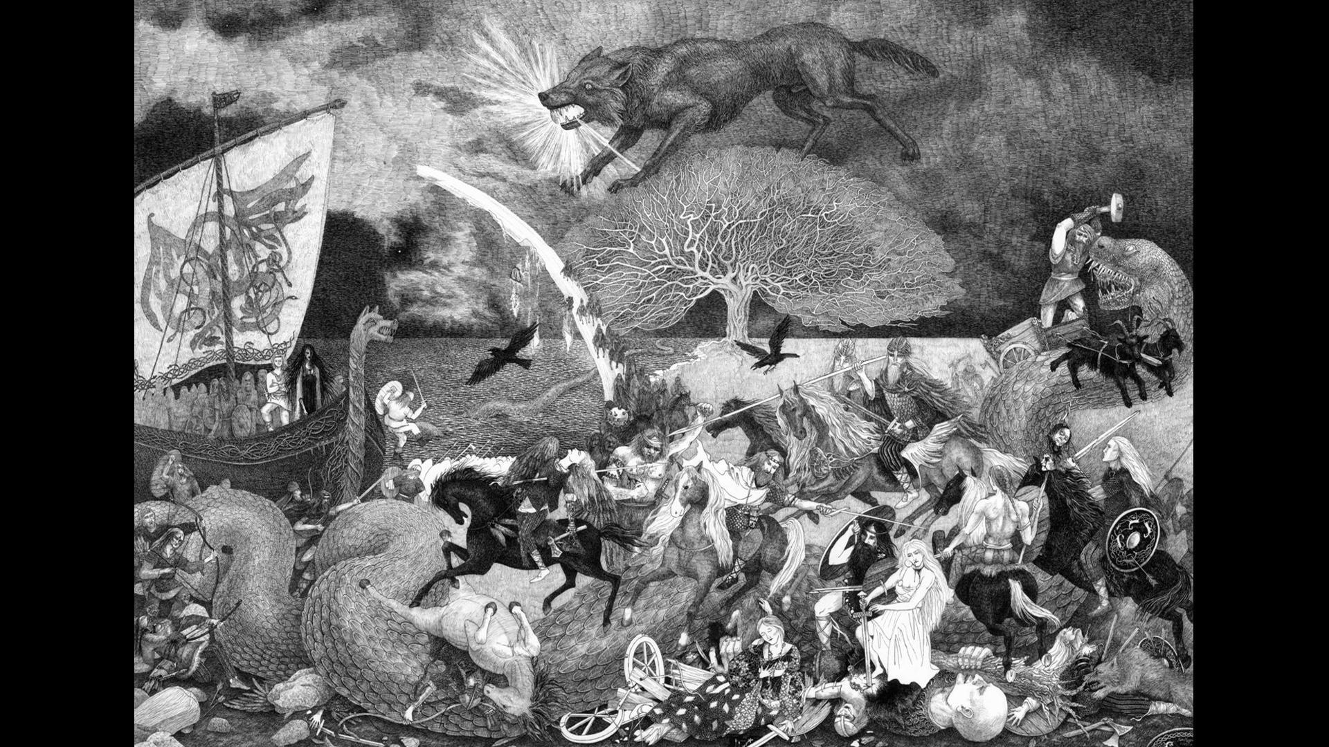 Ragnarök - Illustration Valentina Mustajarvi