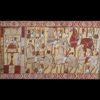 Reconstitution d'une partie de la tapisserie d'Oseberg - Musée historique d'Oslo
