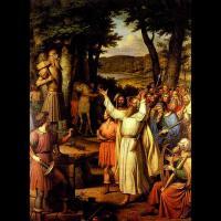 Représentation d'un Godi procédant à une offrande  au dieu Thor, par J.L Lund