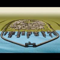 Représentation de Jomsborg d'après la Saga des Jomsvikings - Source: Historianet