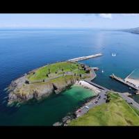 Le château de Peel, île de St Patrick, Royaume-Uni
