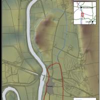Plan avec les contours approximatifs du camp d'hiver viking à Torksey