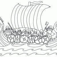 Snekkar et guerriers vikings