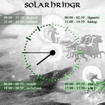 Solarhringr, l'horloge de l'Âge Viking - Illustration: Idavoll