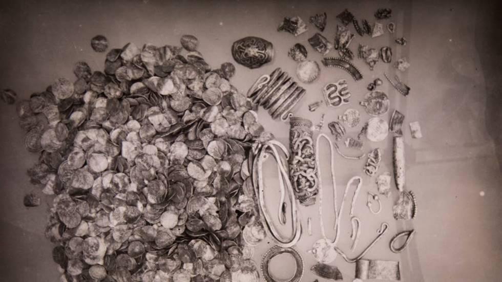 Suède - Le trésor de Kännungs au moment de sa découverte en 1934 -  Photo: Malin Stenström
