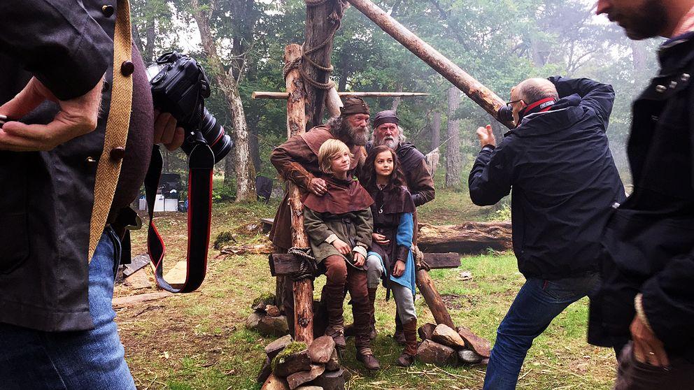 Suède - Les principaux acteurs sur le tournage du film Halvdan le Viking