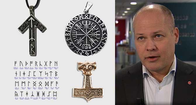 Suède - Morgan Johansson, le ministre de la Justice, veut faire interdire plusieurs symboles de la culture nordique - Photo: Samhällsnytt