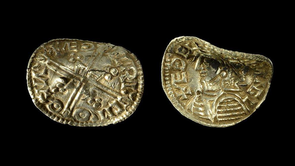 Suède - une pièce d'argent viking retrouvée vers Linkoping - Photo par Peter Zetterlund / Arkeologerna