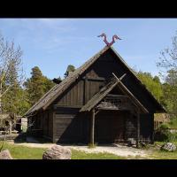 Le village viking Vikingabyn sur l'île de Gotland, Suède