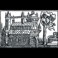 Temple d' Uppsal, manuscrit Atlantica de Rudbeck conservé à Sotckholm (Kungl. Bibliotek)