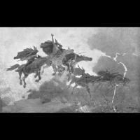 La chevauchée des Valkyries par John Charles Dollman
