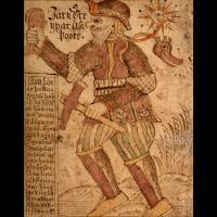 Thor portant son marteau Mjöllnir et sa ceinture de force - Illustration: Ólafur Brynjúlfsson