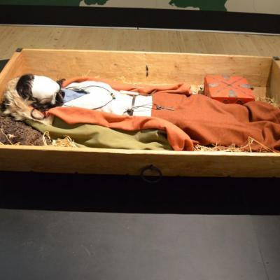 Reconstitution de la tombe de la femme. Photo: Musée de Silkeborg