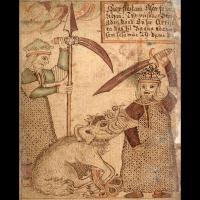 Týr et le loup Fenrir - Illustration Ólafur Brynjúlfsson