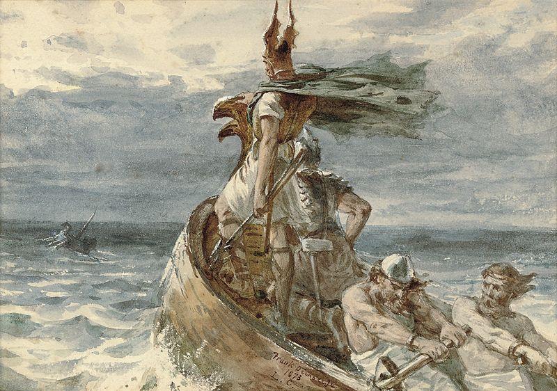 Vikings heading for Land, par Frank Dicksee, 1873