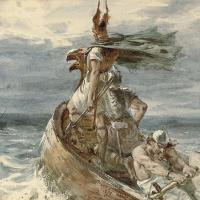 Vikings heading for Land, par Frank Dicksee, 1873
